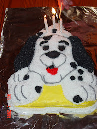 Dalmation Birthday Cake