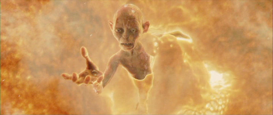 Top 15 Lord of The Ring Villains, From Least to Most ... Gollum Falling Into Mount Doom