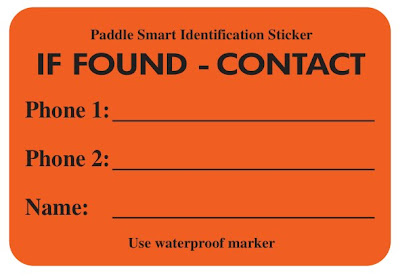 canoe ID sticker