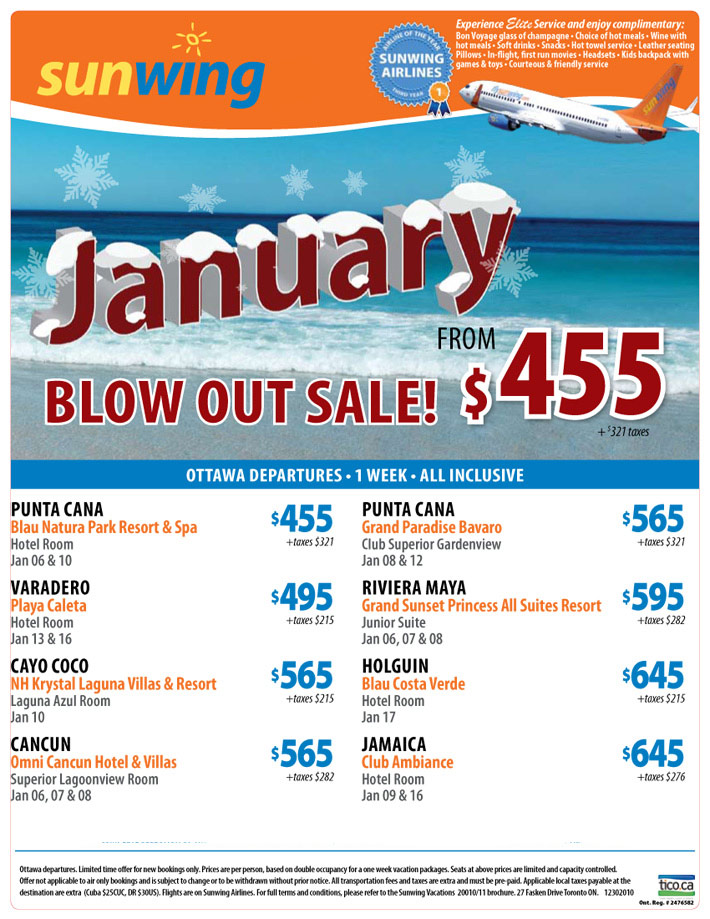 411 travelbuys blog january blow out for Cheap vacations in january