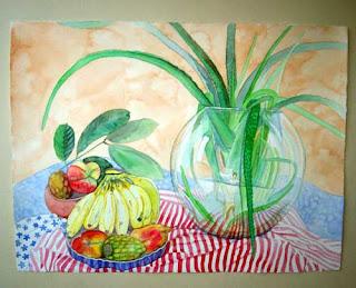 Frutos de mi tierra, acuarela 56X76