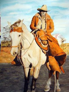 acuarelas cowboy vaqueros