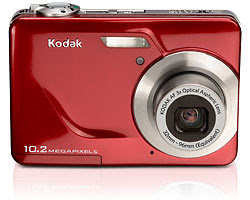 camaras kodak color rojo