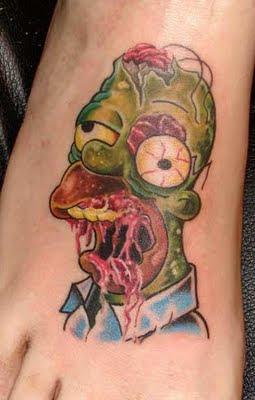 Intim tattoo homer simpson