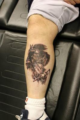 indian tattoo designs on leg
