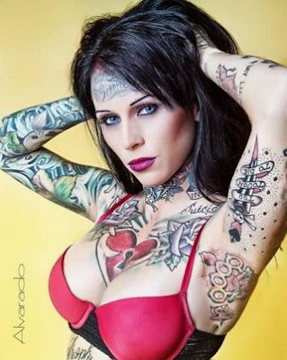 jesse james and Jesse James' mistress Michelle McGee tattoo model