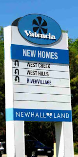 Newhall Land tract development sign