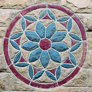 Stanford University Storm Drain Cover Design Done in Stone (c) David Ocker
