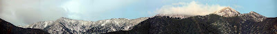 Mount Wilson Snowfall panorama as seen from Pasadena CA (c) David Ocker