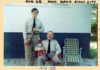 David Ocker (age 17) with his father - both clarinetist in the Sioux City Municipal Band