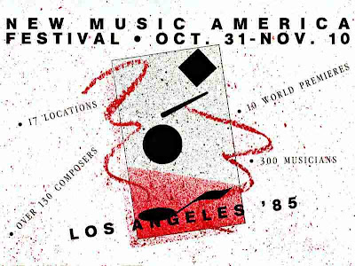 New Music America 1985 - Los Angeles - brochure cover