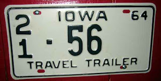 an Iowa licence plate, but not from my county