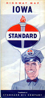 a vintage Standard Oil Iowa roadmap