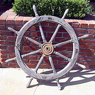 Bill Kraft Backyard - ships wheel