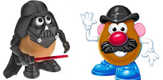 Mr Potato Head as Darth Vader and Mario