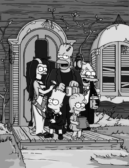 The Simpsons as The Munsters