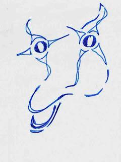 Cow Skull Doodle (c) David Ocker
