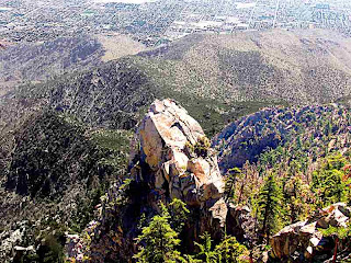 Looking down from Palm Springs Aerial Tramway Palm Springs (c) David Ocker