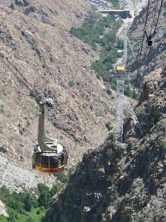 Palm SPrings Aerial Tramway cable car and towers (c) David Ocker