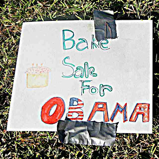 Obama Bake Sale sign