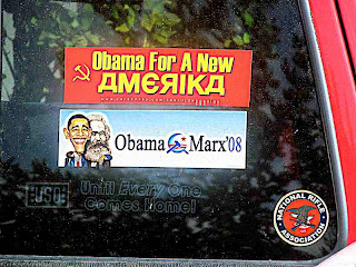 Obama & Marx bumper stickers