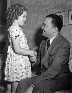 J.Edgar Hoover with Shirley Temple