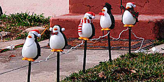 Christmas Penguin yard lights