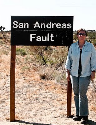 San Andreas Fault road-side sign