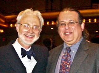 John Adams & David Ocker, at premier of Transmigration of Souls 2002