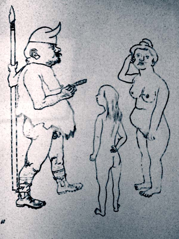 1921 drawing by George Grosz 'Memory of Wagner'