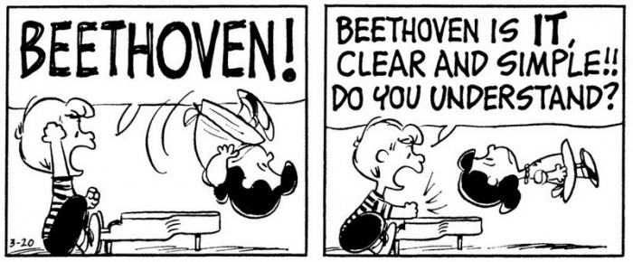 Peanuts - Schroeder says Beethoven Is It