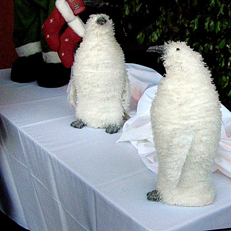 Christmas Penguin - fuzzy all white penguins
