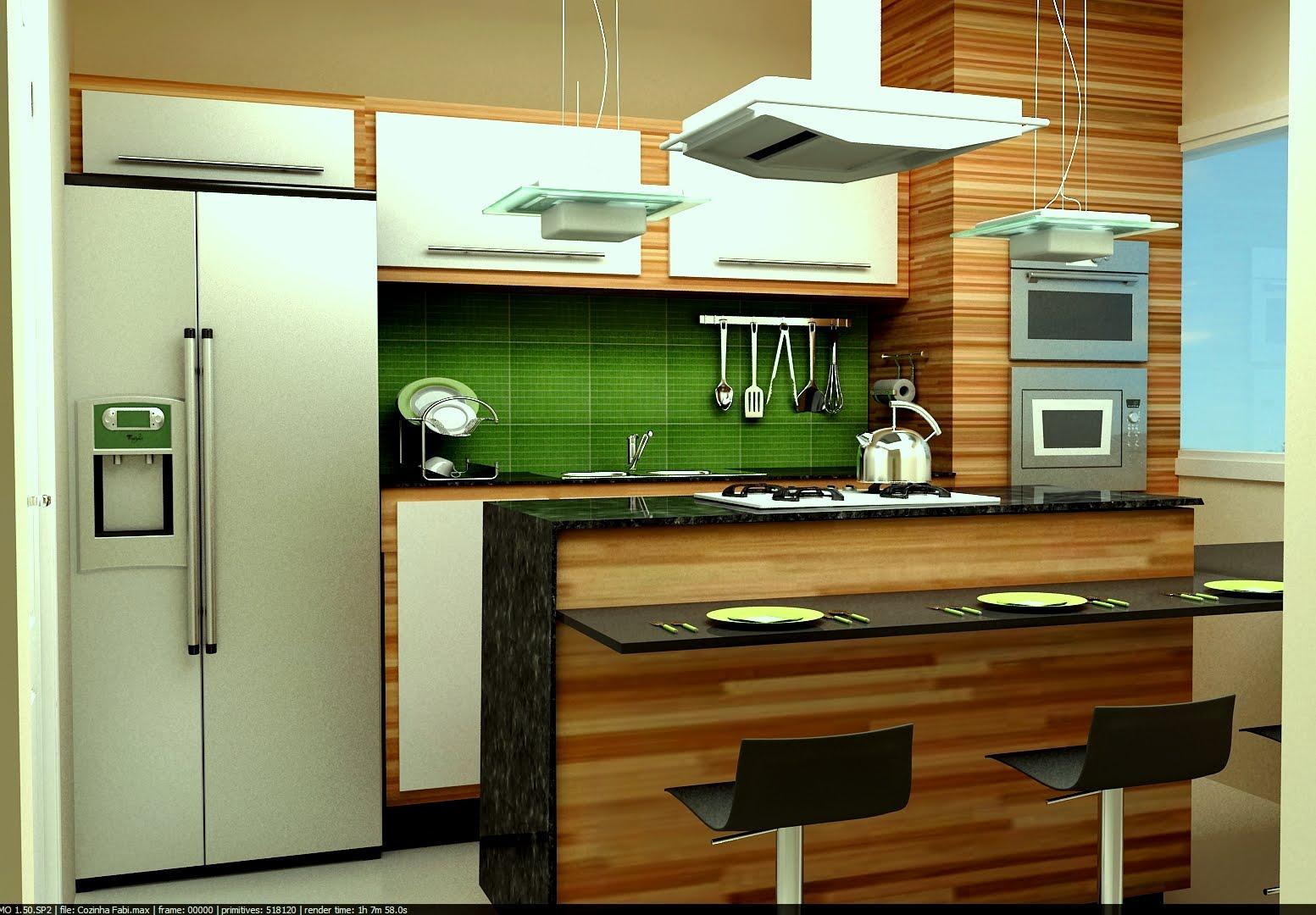 Aviz Design De Interiores Cozinha Projetada No Studio Max