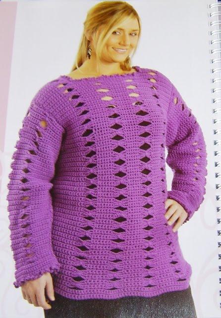 Crochet Patterns Plus Size : Crochet pattern, plus size shrug, PDF Berniolie - Patterns on