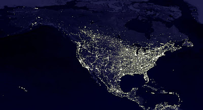 PetesPlace On Global WarmingClimate Change NightTime Satellite - Satellite mexico map