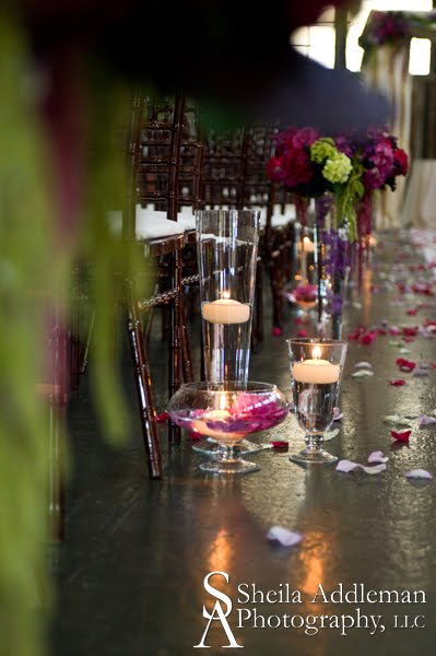 Wedding Aisle Decorations with Candles