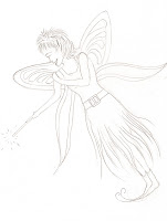 free fairy image for colouring