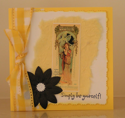 yellow greetings card
