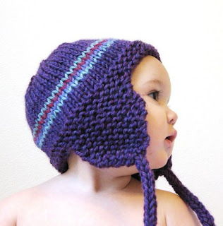 knitted earflap hat baby image