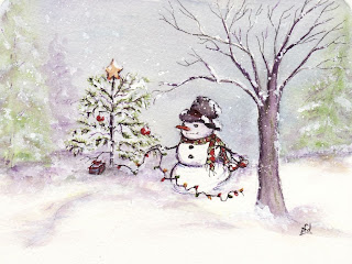 image snowman christmas card