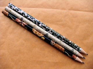 image handmade midnight pencils by missisa on etsy