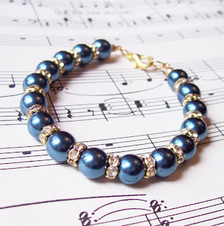 image chantal bracelet montana blue pearls rhinestones
