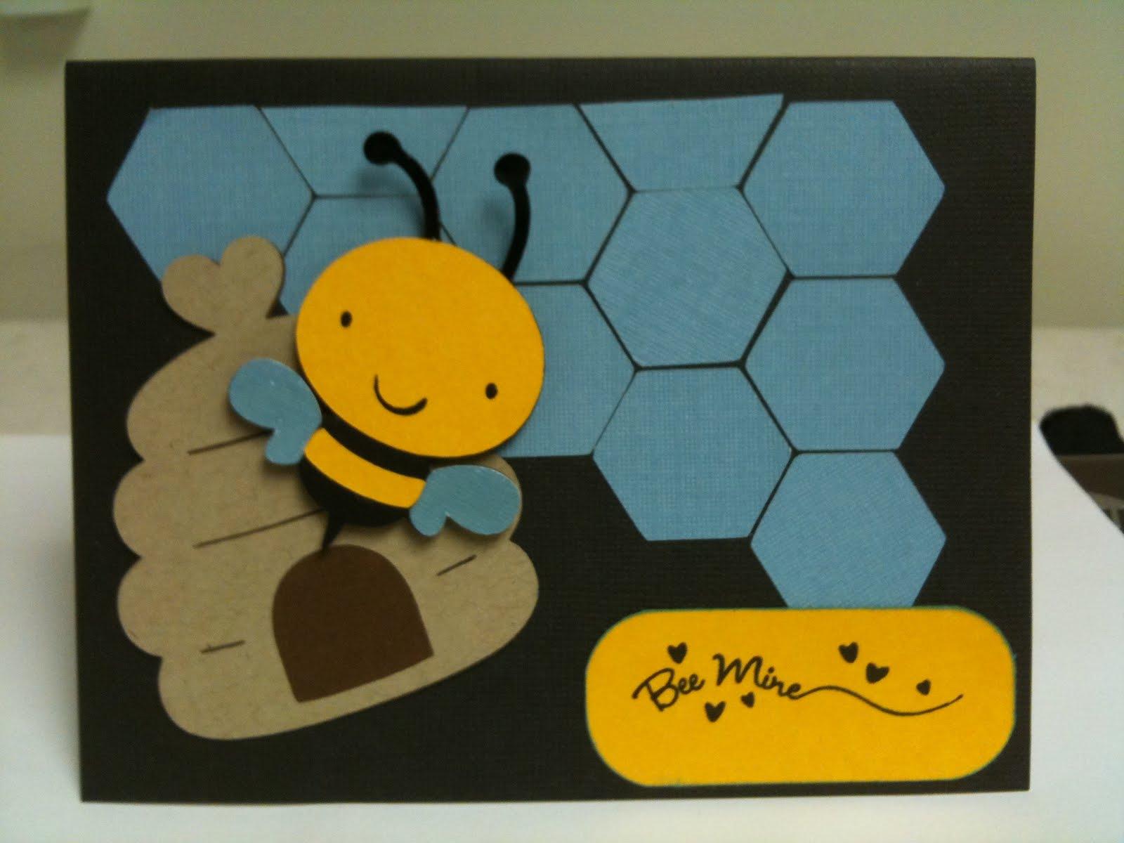 Stefs Craft Corner Bee Mine Valentines Day card – Bee Mine Valentine Card