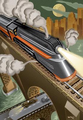 Loud mouth soup choo choo for Art deco train interior