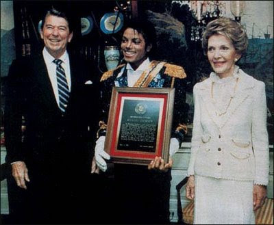 micheal jackson with ronald reagan