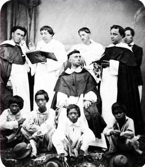 Spanish friars of the Dominican Order ca 1875-1880