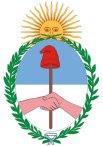 Brasão de armas da Argentina.