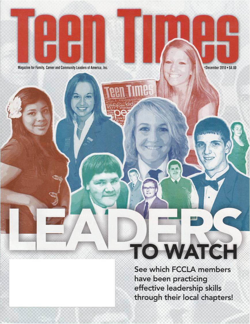 ... in the November/December issue of Teen Times, FCCLA's national magazine.