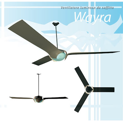 Ventilatore da soffitto wayra semana del design - Ventilatore da soffitto design ...