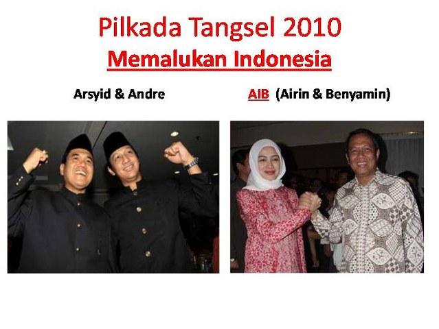 AIB Tangsel, Airin & Benyamin Dilawan Arsyid & Andre di Mahkamah Konstitusi 2010